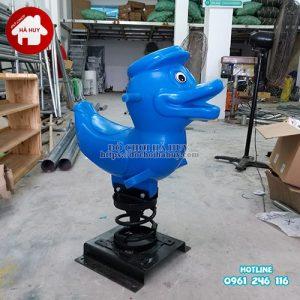 Thú nhún con vịt nhựa cao cấp HB2-010