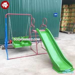Cầu trượt xích đu đôi HB1-022