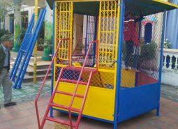 Lắp đặt nhà bóng ngoài trời cho trường mầm non tại Hà Nội