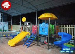 Lắp đặt đồ chơi ngoài trời cho khách hàng tại Hưng Yên