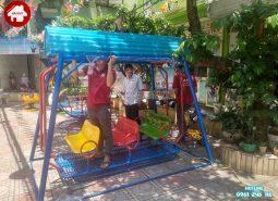 Sản xuất lắp đặt đồ chơi ngoài trời cho khách hàng tại Hà Nội