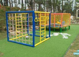 Thi công lắp đặt công trình sân vui chơi trẻ em tại Hòa Bình