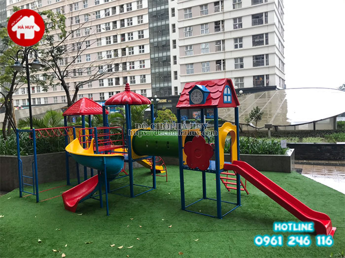 chọn cầu trượt liên hoàn tốt cho các khu vui chơi trẻ em
