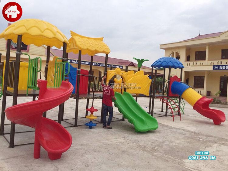 lắp đặt đồ chơi ngoài trời cho trường mầm non ở Bắc Giang
