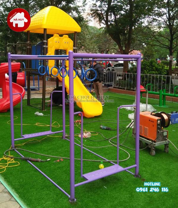 Lắp đặt đồ chơi ngoài trời cho khu vui choi trẻ em ở Hà Nội