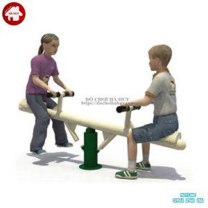 Bập bênh đòn 2 chỗ ngồi ngoài trời cho trẻ em HB2-043