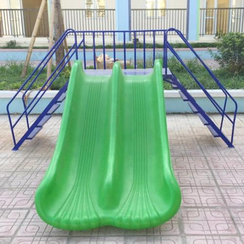 Cầu trượt thang leo máng trượt đôi nhập khẩu HB1-024