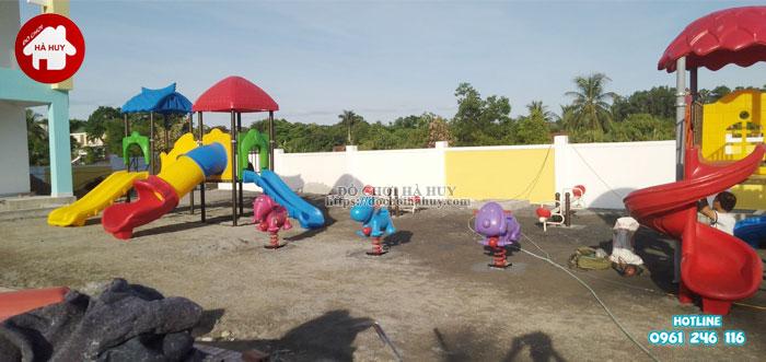 Lắp đặt đồ chơi mầm non ngoài trời tại Nghệ An