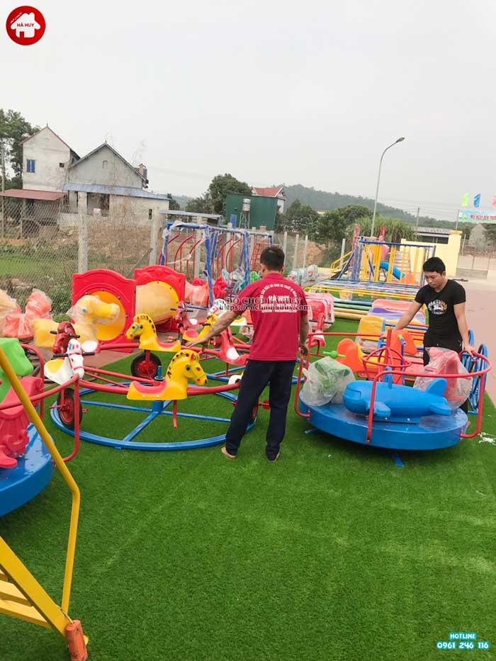 Sản xuất lắp đặt đồ chơi ngoài trời cho trường mầm non ở Hà Tĩnh