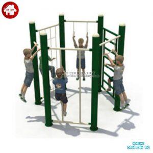 Bộ vận động thể chất thang leo lục giác cho bé HB1-017