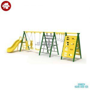 Xích đu cầu trượt thang leo liên hoàn ngoài trời HB4-065